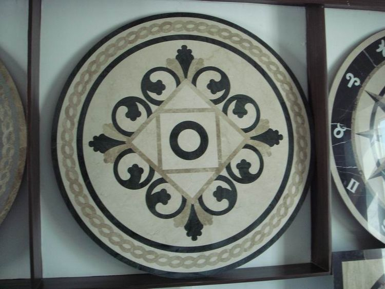 Water Jet Stone Medallions, China. ALSM035