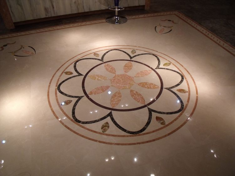 Water Jet Stone Medallions, China. ALSM046