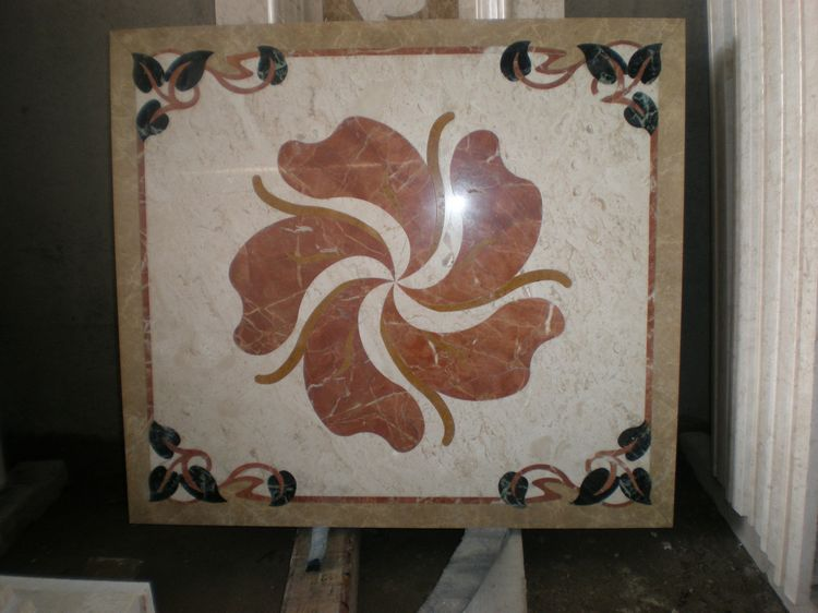 Water Jet Stone Medallions, China. ALSM066