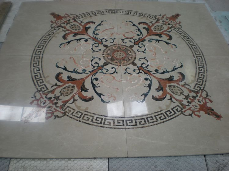 Water Jet Stone Medallions, China. ALSM064