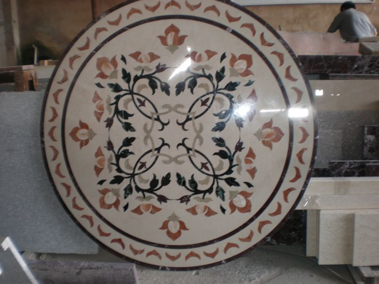 Water Jet Stone Medallions, China. ALSM075