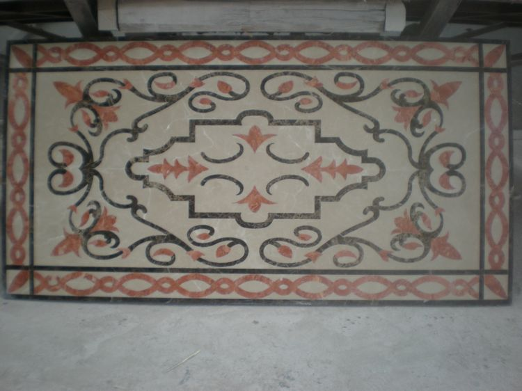 Water Jet Stone Medallions, China. ALSM077
