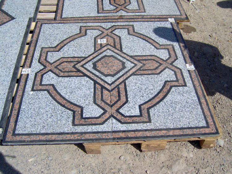 Water Jet Stone Medallions, China. ALSM080