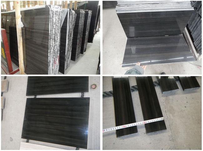 China Black Marble Tiles. Wood Look Marble