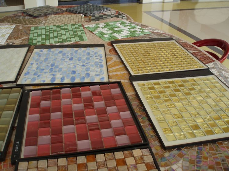 Artificial Marble Mosaic Tiles, AL059, China