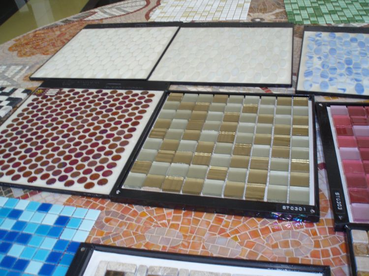 Chinese Artificial Marble Mosaic Tiles, AL058