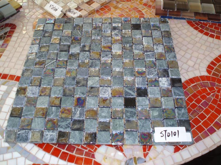 Artificial Marble Mosaic Tiles, AL061, China